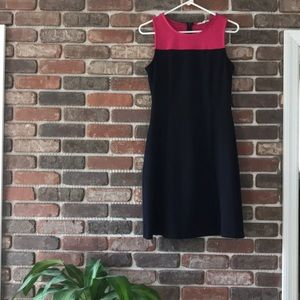 41 Hawthorn | Navy & Pink Dress